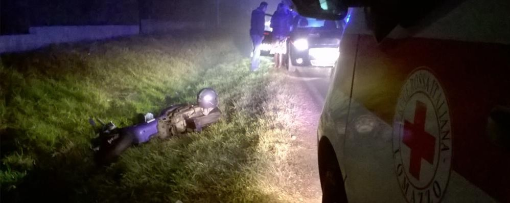 Auto contro moto a Bregnano  Un ferito sulla Provinciale