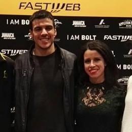 """Anche Giorgi alla prima  del film """"I am Bolt"""""""