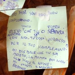 Letterina dal cielo al papà morto  «Vorrei che tornassi con noi...»