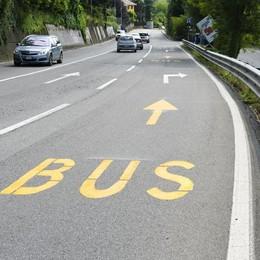 Oltrecolle, corsia riservata  «Meno problemi per i bus»