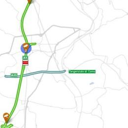 Incidente in autostrada  Code tra Fino e Grandate