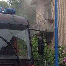 Incendio in un abitazione Paura a Mozzate