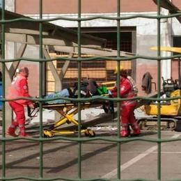 Infortunio sul lavoro  Elicottero a Lomazzo