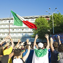 Europei: la festa a Como per l'Italia