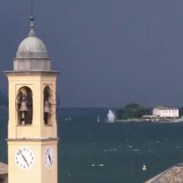 Como, violento temporale  arrivato dal lago (video)