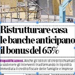Ristutturare la casa  Le banche anticipano il bonus