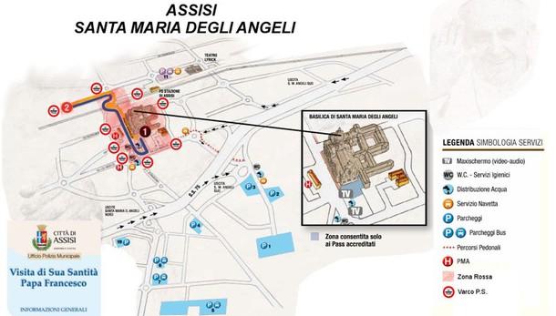 Ecco il programma della visita di papa Francesco alla Porziuncola