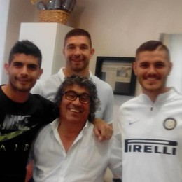 Icardi a Guanzate   da Gianni, il coiffeur dei vip  «Ha in testa i gol»