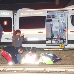 Investito dal treno a Lomazzo  Gravissimo trentenne