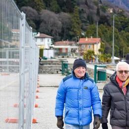 Villa Olmo, il parco è già un cantiere  Per i pedoni resta solo un mini corridoio