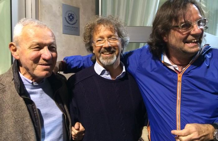 Da sinistra mister Angelo Massola, Todesco e Marco Nicoletti