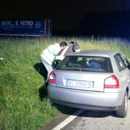 Scontro auto-Tir: conducente incastrato
