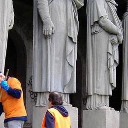 Villa La Rotonda torna a splendere  Ripulita la loggia dei Telamoni
