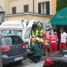 Cameriera cade dalle scale  Elisoccorso al Grand hotel