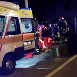Anzano, con l'auto contro cancello  Cinquantenne in pericolo di vita