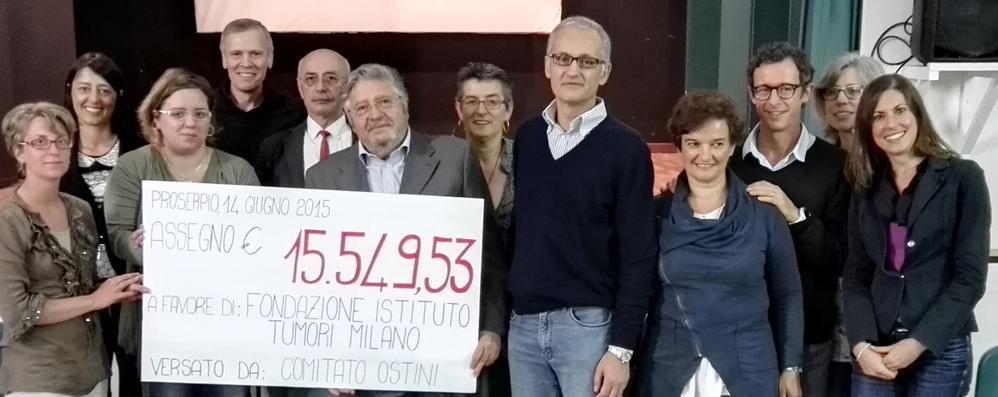 Proserpio,15mila euro alla ricerca  In memoria di Alessandro