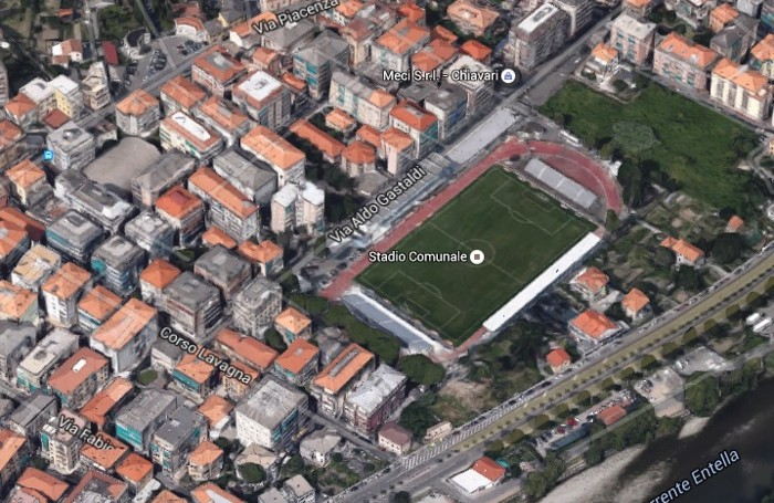 Lo stadio di Chiavari dove giova l'Entella