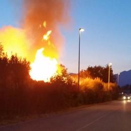 Anzano: incendio in un'azienda