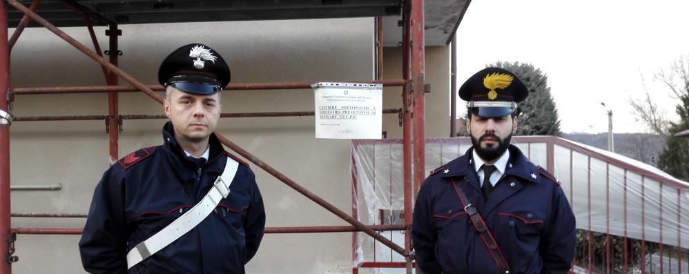 Faloppio, cantiere non in regola  I carabinieri lo sequestrano