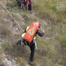 Griante, bloccati durante l'arrampicata  Emergenza sul Sasso San Martino