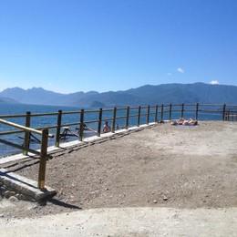 «Sparita la spiaggia  più grande del lago»