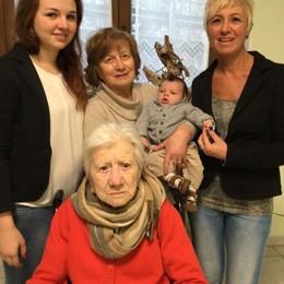 Una foto per cinque generazioni  Da trisnonna Maria ed Edoardo