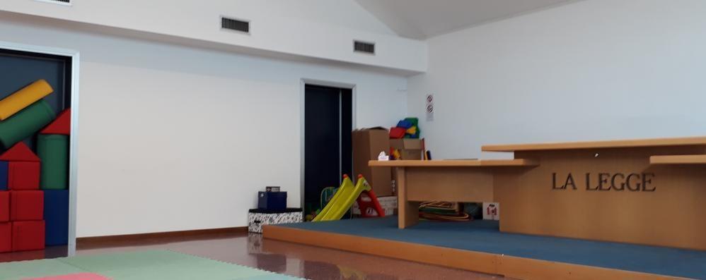 Dalle sentenze ai giochi dei bimbi  L'ex tribunale di Cantù è un  asilo