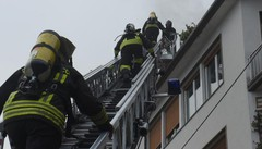 Incendio in via per San Fermo Paura per quattro bambini