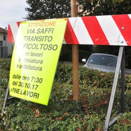 Cantù, traffico a rischio caos  Lavori in via Saffi e in via Como