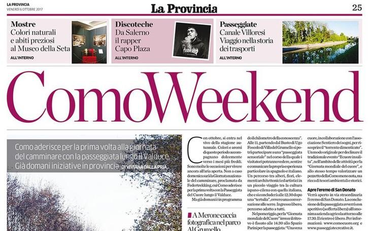 Ogni venerdì con La Provincia  il nuovo inserto weekend