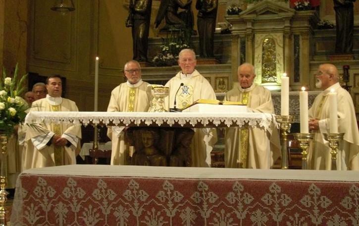 Che festa per i sacerdoti di Olgiate  In cinque 190 anni di missione