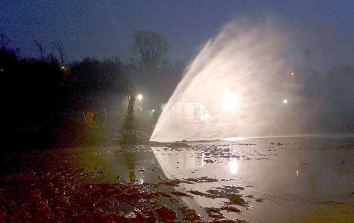 Lurago, bucata tubazione dell'acqua  Erogazione sospesa in sette Comuni