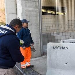 Como, in val Mulini  recinzioni anti migranti