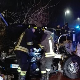 Incidente tra auto e furgone Ambulanze a Senna Comasco