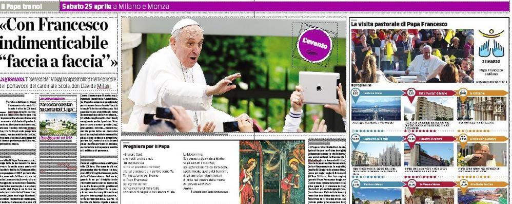 Papa Francesco a Milano  Tutte le notizie in 12 pagine  Oggi con La Provincia