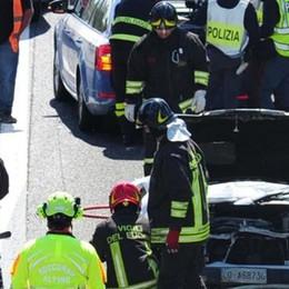 Due morti nell'auto tamponata dal Tir  Un imprenditore di Rovello e un amico