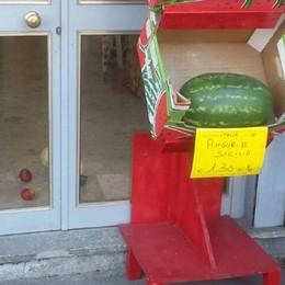 Spaccata nel negozio di ortofrutta  Via 700 euro nella pausa pranzo