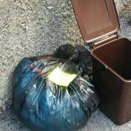 Erbese, raccolta rifiuti, primi problemi  I sacchi non regolari restano in strada