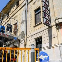 Un cantiere al Politeama   «Per evitare altri crolli»