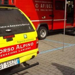 Cade durante escursione  Soccorso Alpino a Erba