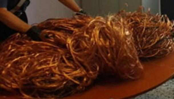 Denunciato per il furto del rame  Recuperati 53 chili di oro rosso