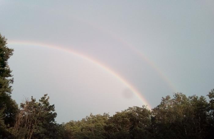 Doppio arcobaleno a Lipomo