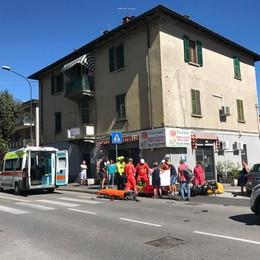 Incidente auto moto Un ferito a Erba