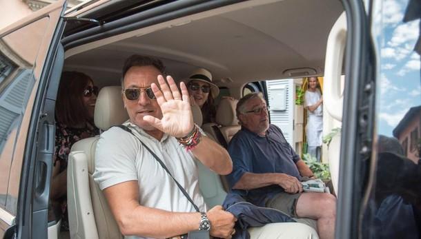 Bruce Springsteen e Robert De Niro  Il pranzo in Riva a Cernobbio