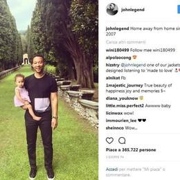 John Legend in vacanza sul lago  «Soltanto qui mi sento come a casa»