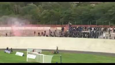 Scontri durante il derby Varese-Como