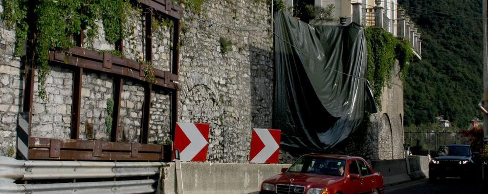 Argegno: frana sulla Regina  Ordinanza per la villa