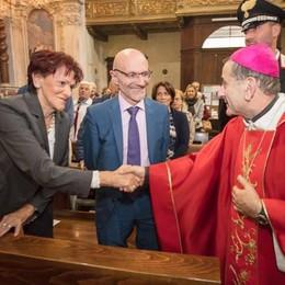 Festa per l'arcivescovo Delpini  in vista alla comunità di Porlezza