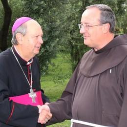 Dongo, il vescovo ai frati  «Avete fatto molto»