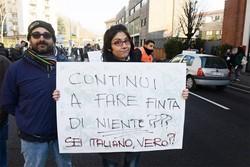 Como piazza Camerlata traffico da via Pasquale Paoli bloccato per la manifestazione / protesta dei forconi contro il governo
